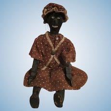Unusual Black Folk Art Doll