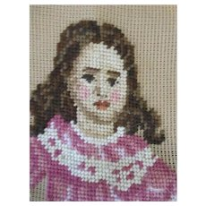 Needle Point of German Bisque Doll