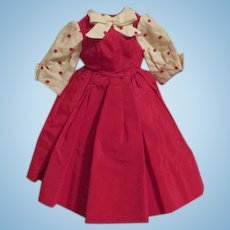Pretty 1957 Cissy Taffeta Tagged Dress