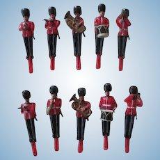 Vintage Miniature Wax British Soldier Band