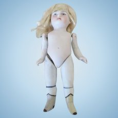 """Sweet 4.5"""" Antique All Bisque Doll - Perfect for a Doll House"""