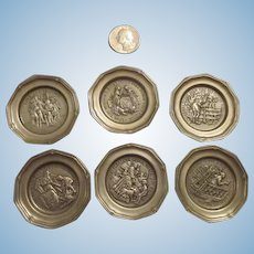 Pewter Doll House Plates - Each with a different engraving