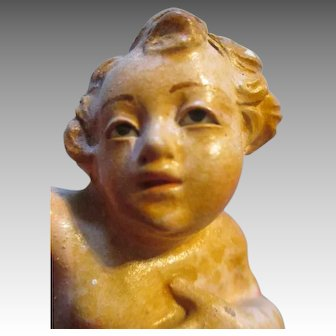 Sweet Antique Creche Angel Putti