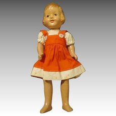 """Sweet 8.5"""" Shriley Temple Type  R & B Composition doll"""