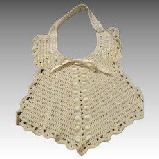 Antique Crochet Bib