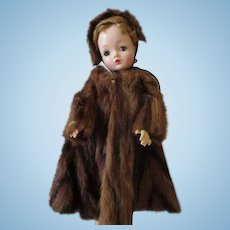 Real Fur Coat and Hat for Cissy