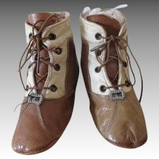 Antique Two Tone Baby Shoes for Your Antique Baby Doll