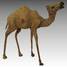 Antique Leather Camel for Your Creche - Extremely Rare