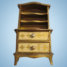 Antique Florentine Cabinet for Your French Fashion Doll