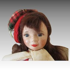 Sweet Vintage Doll in Wonderful Outfit