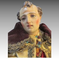 Neapolitan Creche Figure  King- Wonderful Condition