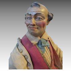 Neapolitan Creche Figure With Expressive Face