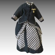 Very Pretty 2 Piece Walking Suit for Your French Fashion Doll
