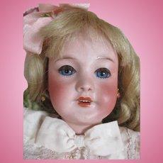 "Antique French 13"" SFBJ 301 Bisque Head Doll"