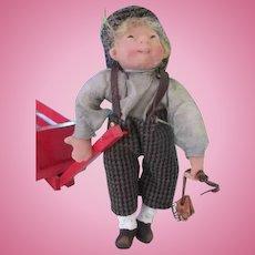 Adorable Artist Clay Faced Doll