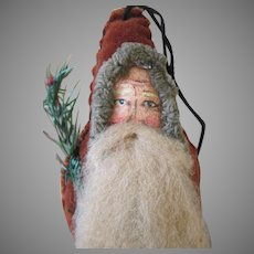 Folk Art Santa Candy Container