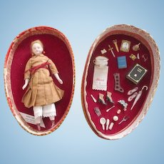 Miniature Artist Doll in Presentation Egg