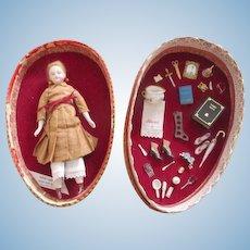 Miniature Artist Doll in Presentation Egg