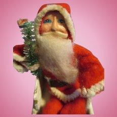 Vintage Miniature Santa Claus with Sleigh