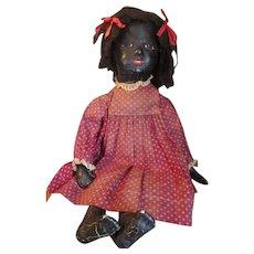 Molded Cloth Face Folk Art Doll