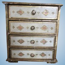 Italian Florentine Chest of Drawers for your Antique French Doll