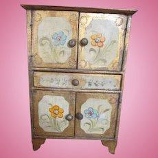Antique Italian Florentine Cabinet for Your Antique Doll