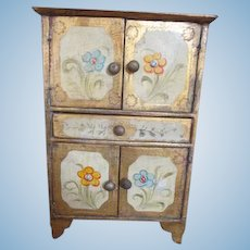 Antique Italian Florentine Cabinet for Your Antique Doll