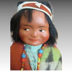 Bisque Head Indian Doll - All Original