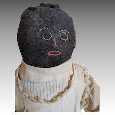 Antique Folk Art  Stocking Net Doll
