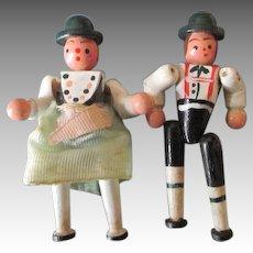 Vintage Miniature Wooden Dolls