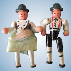 Vintage Miniature Wooden Dolls