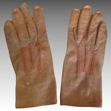 Child's Antique Leather Gloves