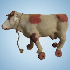 Antique Cow Pull Toy