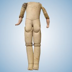Antique Leather Doll Body for Shoulder Head