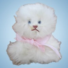 Adorable Bunny Fur Kitty for your Antique Doll