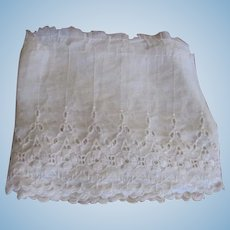 Wide Antique Lace Trim for Doll Dress Making