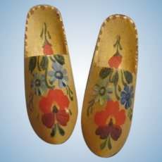 Pretty Wooden Doll Shoes