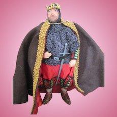 Vintage King Arthur Doll