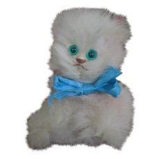 Sweet Real Fur Kitty for your Doll's Companion