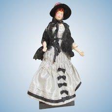 Vintage Fashion Mannequin Doll in Elaborate Dress