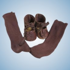 Pretty Shoes and Socks for Your Antique Doll