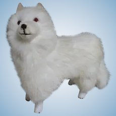French Samoyed Dog Candy Container for Your Doll's Companion