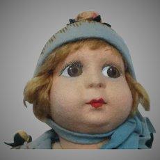 Antique Felt Doll