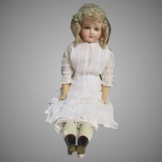 Stunning Wax Over Composition Doll
