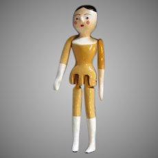 Unique Metal Peg Wooden Doll