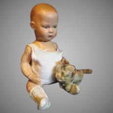 Tiny Steiff Tabby Kitten for Your Dolls