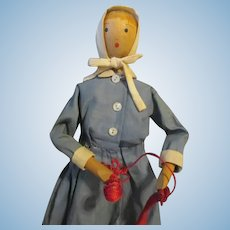 Sweet Folk Art Wooden Doll