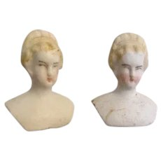 Antique Miniature Bisque Head Dolls