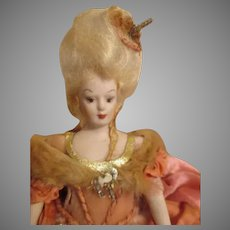 Pretty Artist Doll House Doll with Molded Hair