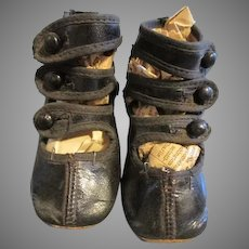 Antique Triple Strapped Shoes for Your Antique Doll